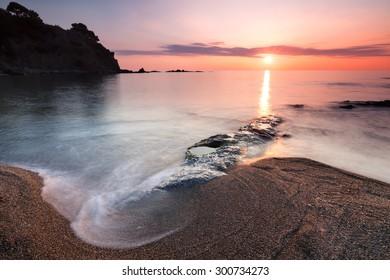 Costa Brava beach at dawn