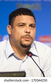 COSTA DO SAUIPE, BRAZIL - DEC 05: Soccer player Ronaldo during press conference in World Cup final draw on december 05, 2013 in Rio de Janeiro.