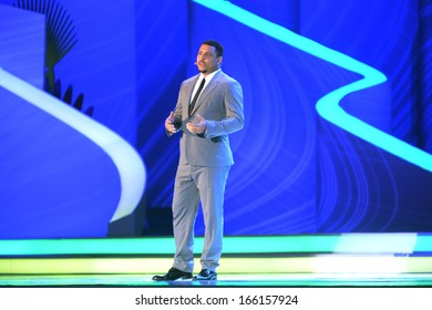 COSTA DO SAUIPE, BRAZIL:06 DEC 2013: former Brazilian soccer player Ronaldo Nazario attends the FIFA 2014 World Cup Final Draw on 06th December 2013 at Costa do Sauipe, Brazil,