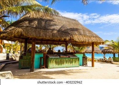 COSTA MAYA - MEXICO JAN 30 2016:Costa Maya cruise ship terminal & resorts is a perfect place for all visitors -young and old - since many attractions awaiting on this tropical paradise.