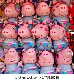 Costa Mesa, CA  / USA  - 08/08/2019: Peppa Pig Prizes at the Orange County Fair