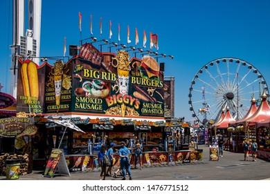 Costa Mesa, CA  / USA  - 08/08/2019: Food Concession at the Orange County Fair