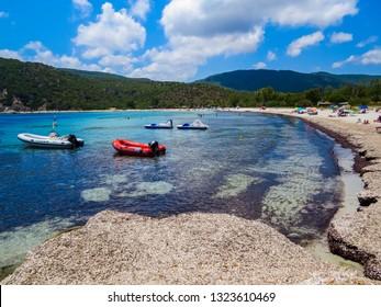 COSTA REI, ITALY - JULY 15, 2015: View of Cala Pira Beach.