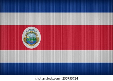 Costa Rica flag pattern on the fabric curtain,vintage style