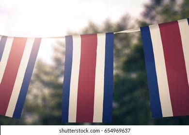 Costa Rica flag pennants