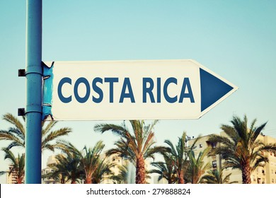 Costa Rica Road Sign