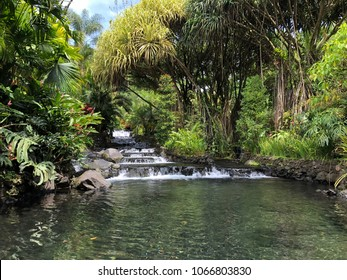Costa Rica Tabacon Hot Springs River at Arenal Volcano