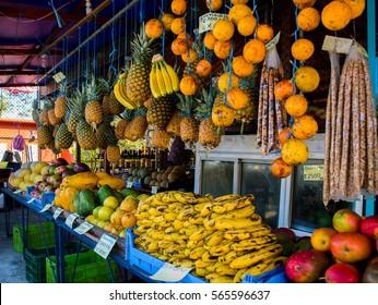 Costa Rica. Tropical fruits, hundred percent natural