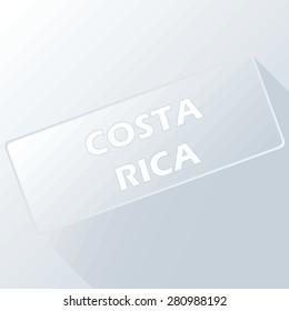 Costa Rica unique button for any design