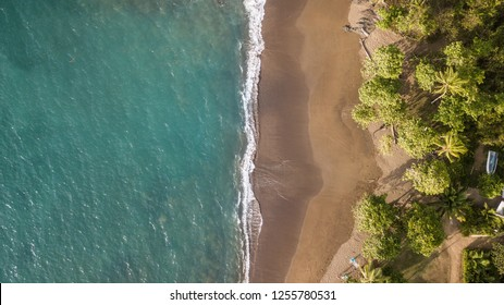 Costa Rica's beautiful coast from above