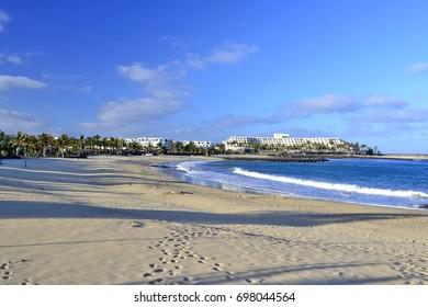 Costa Teguise sandy beach, Lanzarote, Canary Islands