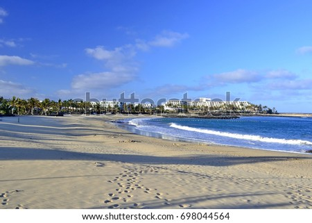 Costa Teguise sandy beach, Lanzarote, Canary Islands