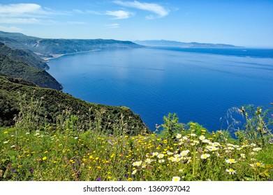 Costa Viola, Palmi, Reggio Calabria district, Calabria, Italy, Europe, seen from the Tracciolino path