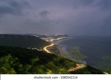 the costal line of vizag city