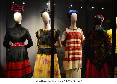 costumes exhibited in the museum of frida kahlo