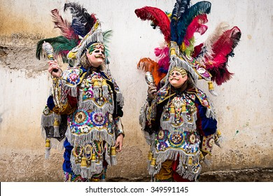 costumes and masks feathers in Guatemala