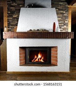 Cosy Fireplace cottage fire lit