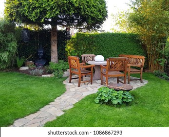 Cosy sitting area in the garden