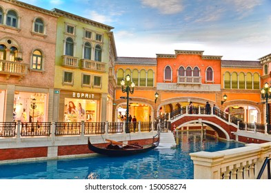 COTAI STRIP, MACAU, CHINA - MAR 8th 2013 : The Venetian Hotel, Macao - The famous shopping mall, luxury hotel and the largest casino in the world
