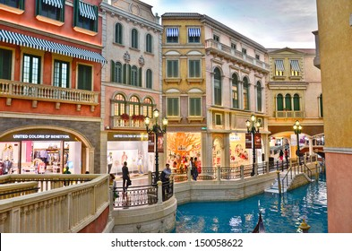 COTAI STRIP, MACAU, CHINA - MAY 8th 2013 : The Venetian Hotel, Macao - The famous shopping mall, luxury hotel and the largest casino in the world