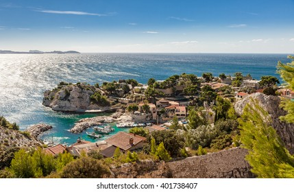 Cote d`azur, Calanque de Niolon, Bay of Marseille, Provence, France