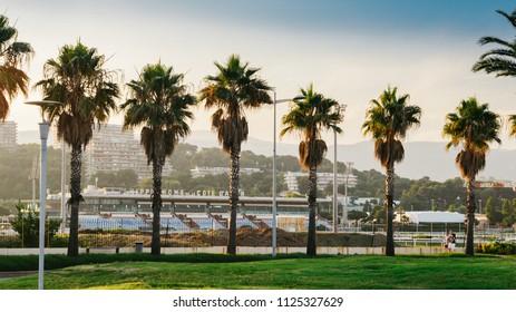 Cote d'Azur, France - June 16, 2018: The Hippodrome de la Cote d'Azur is a racecourse which is located in the town of Cagnes-sur-Mer, France