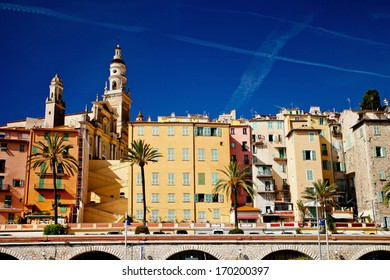 Cote d'Azur, France, Menton,view of the old town