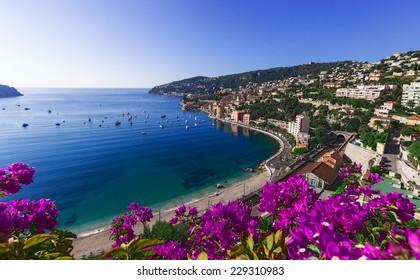 Cote d'Azur in a place Villefranche-sur-Mer, France