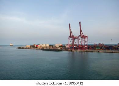 Cotonou, Benin - April 17,2019: Cotonou port Benin West Africa