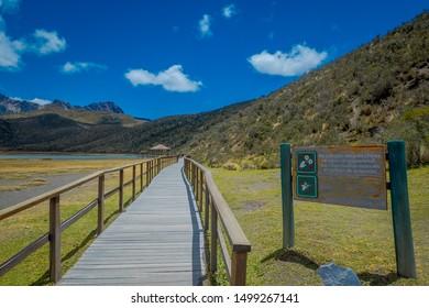 Cotopaxi National Park in Ecuador, in a summer morning.