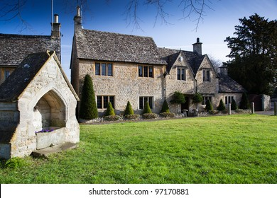 A Cotswold scene, Lower Slaughter, England.