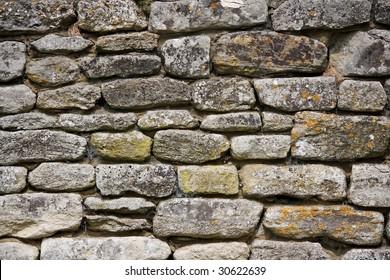 Cotswold stone wall.