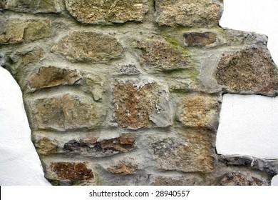 Cotswold style brick wall.