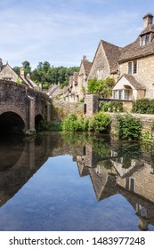 Cotswold village of Castle Combe, South England
