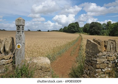 The Cotswold Way near Broadway, England