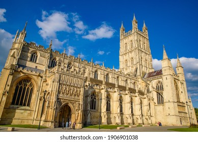 Cotswolds, UK - September 08 2019: Gloucester Cathedral in Gloucester, England, UK