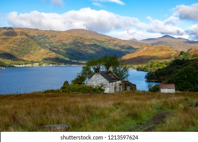 Cottage along the West Highland way, Doune, Upper Loch Lomond, Scotland