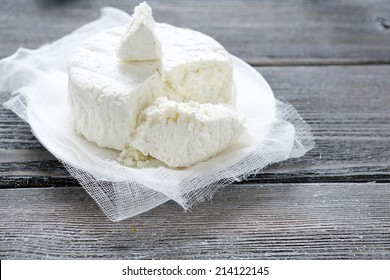 cottage cheese, cut into pieces