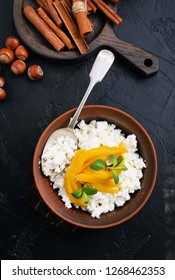 cottage cheese with mango, desert with mango