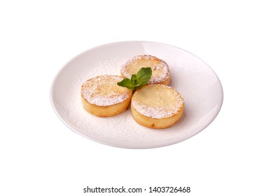 Cottage cheese on the white background