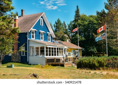 A cottage on the beach, Silver Islet, Ontario