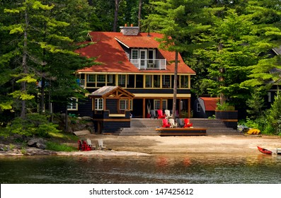 Cottage on a lake