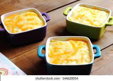 Cottage pie served in individual casseroles