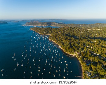 Cottage Point, Ku-ring-gai area, Northern Sydney, Australia wharfs and boats