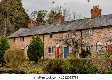 cottages and houses a street in a village uk