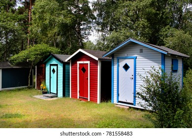 cottages on a beach in sweden