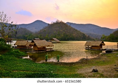 Cottages in the Reservoir , Hub Kao Wong , Suphan Buri , Thailand