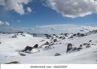 Cottages at Velika planina in Slovenia.