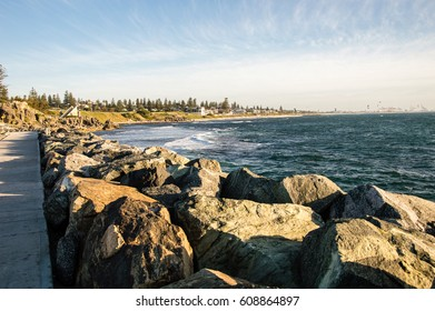 COTTESLOE BEACH, PERTH - NOVEMBER 11: Cottesloe Beach on November 11, 2015 in Perth. Cottesloe Beach has been the favourite seaside destination for Perth locals for more than 100 years.