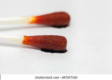 cotton buds with Iodine tincture